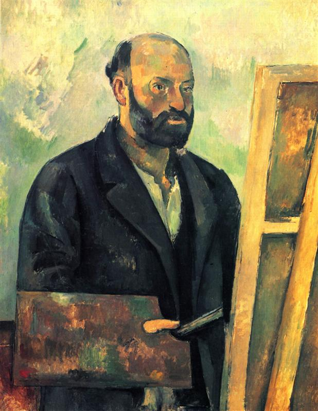 Paul Cezanne. Self-portrait with palette. ca. 1890