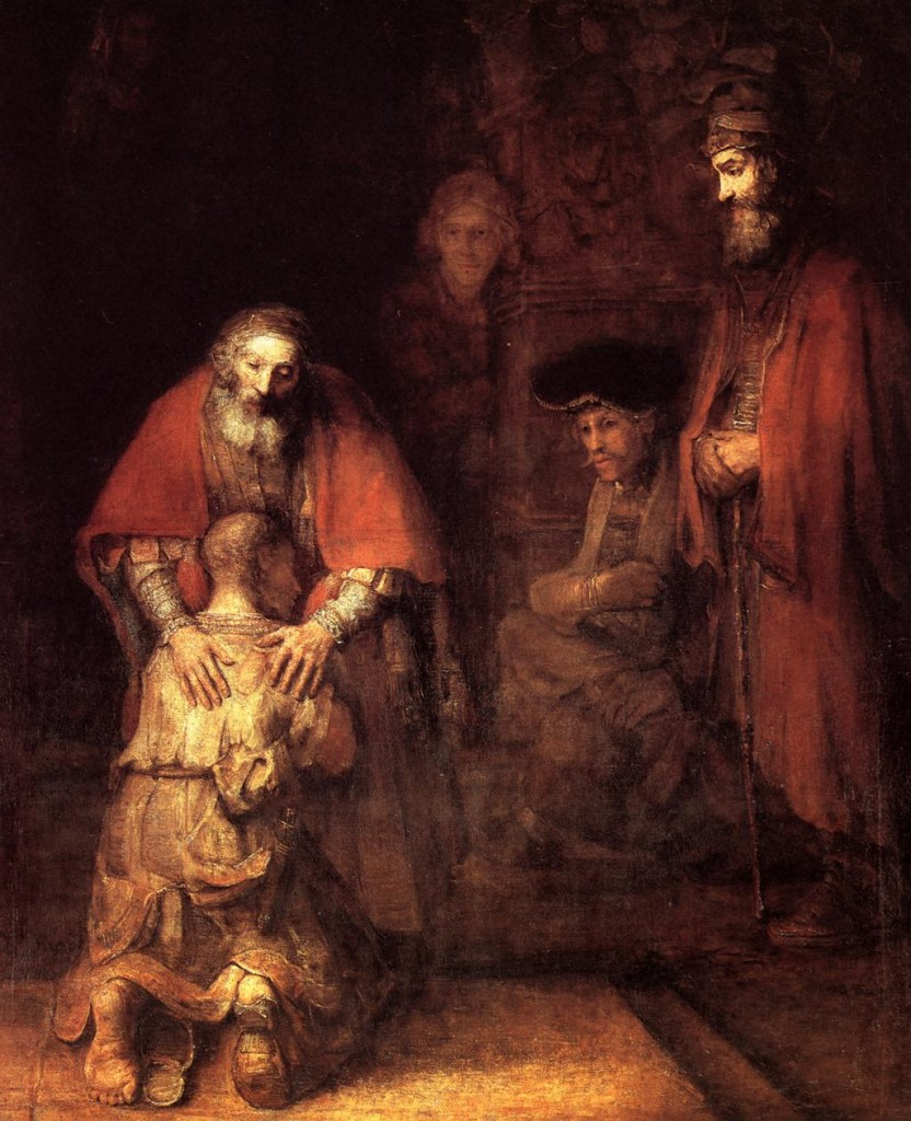 Rembrandt van Rijn. The return of the prodigal son. 1669.