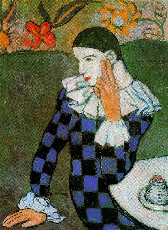 Pablo Picasso. Harlequin leaning. 1901.