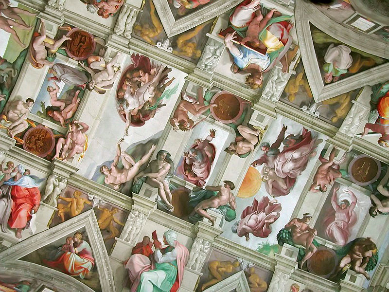 A section of Sistine Chapel ceiling.