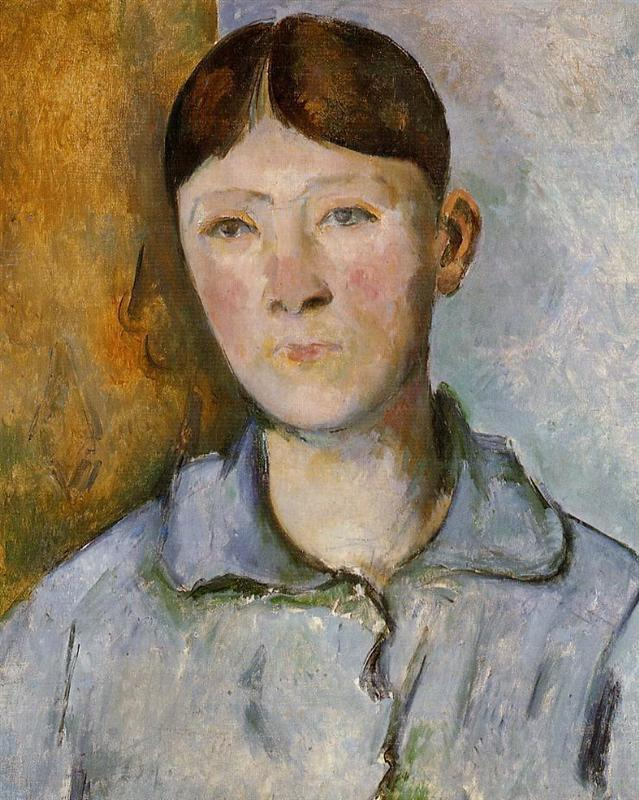 Paul Cezanne. Portrait of Madame Cezanne. 1890