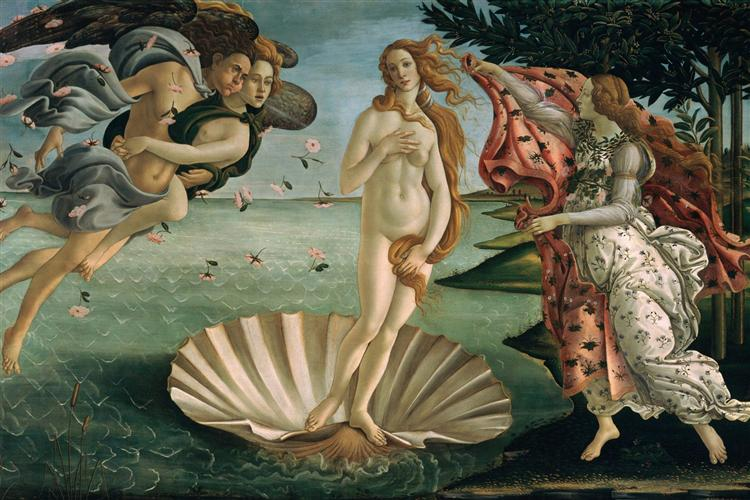 Sandro Botticelli. The Birth of Venus. 1485.