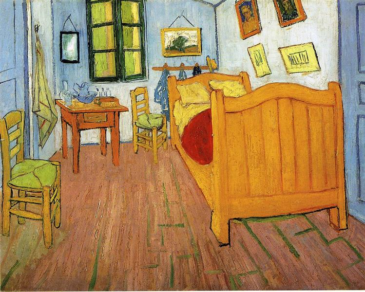 Vincent Van Gogh. Vincent's bedroom in Arles. 1888.