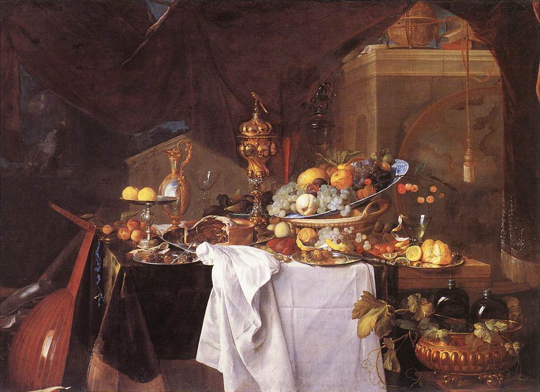 "Jan Davidsz. de Heem. A table of desserts"". 1640."