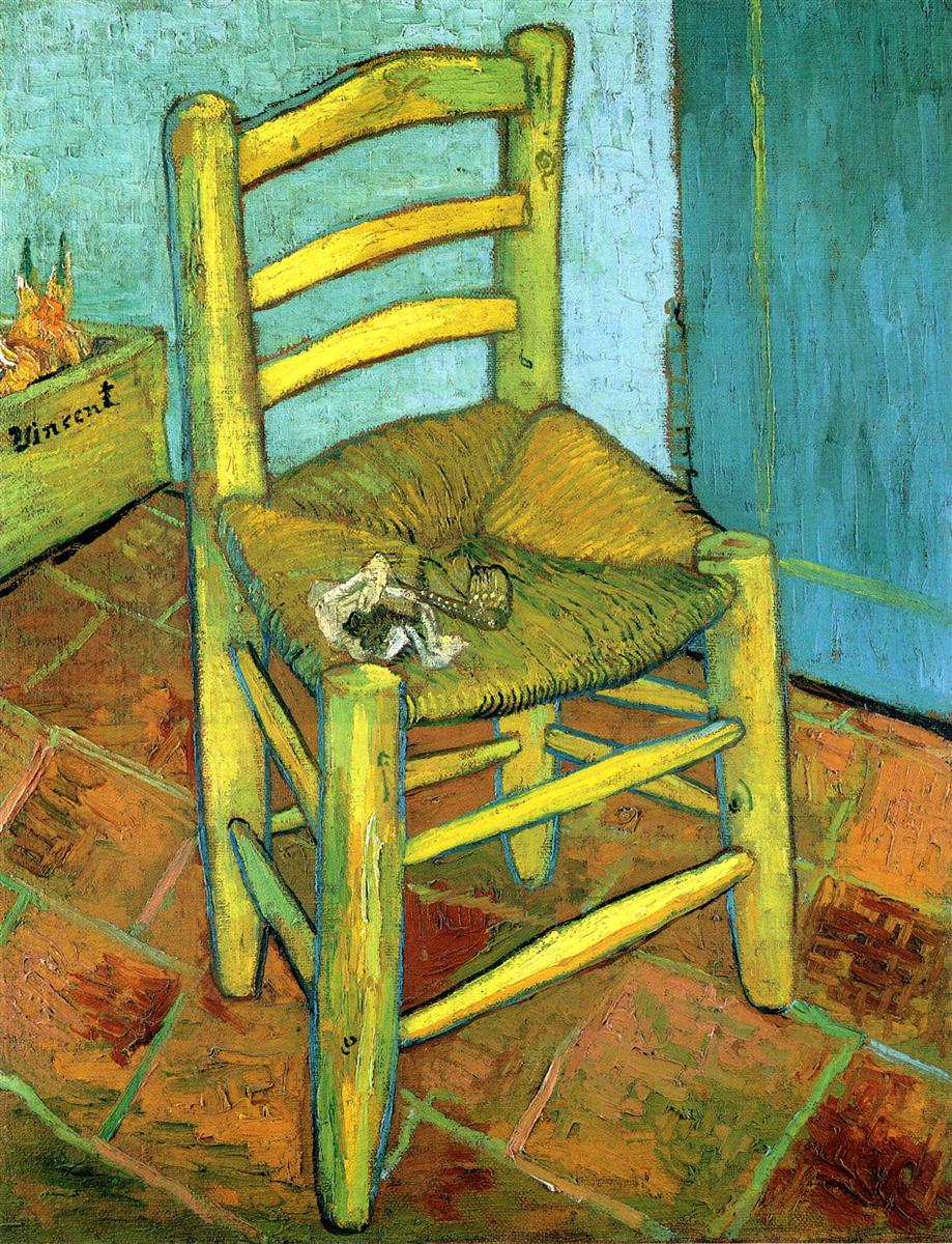Vincent Van Gogh. Van Gogh's Chair. 1889.