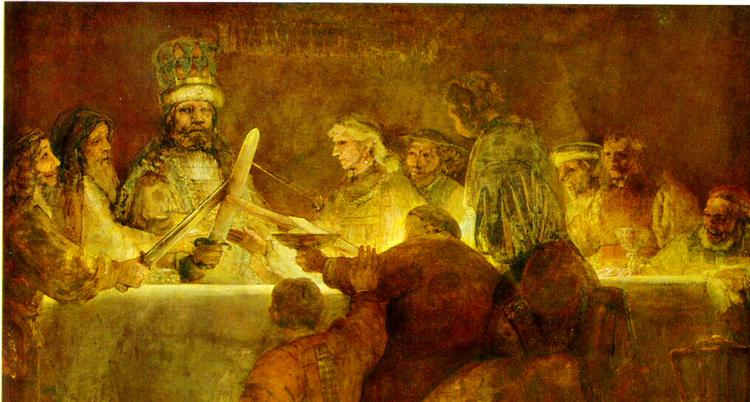 Rembrandt. The conspiracy of Claudius Civilis. 1662.