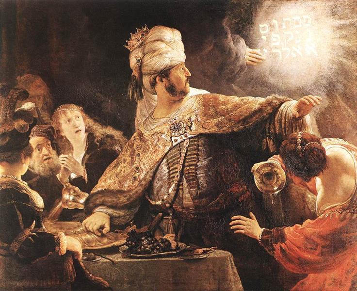Rembrandt. Belshazzar's feast. 1635.
