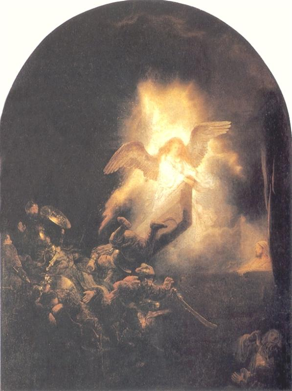 Rembrandt. The resurrection of Christ. 1639.