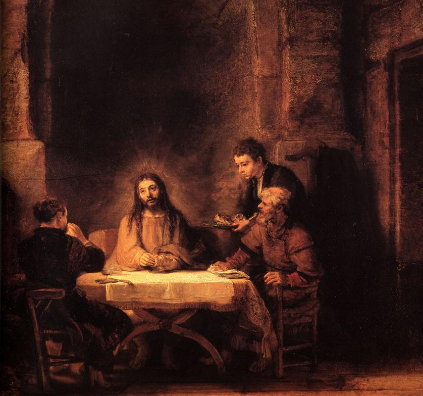 Rembrandt. The supper at Emmaus. 1648.