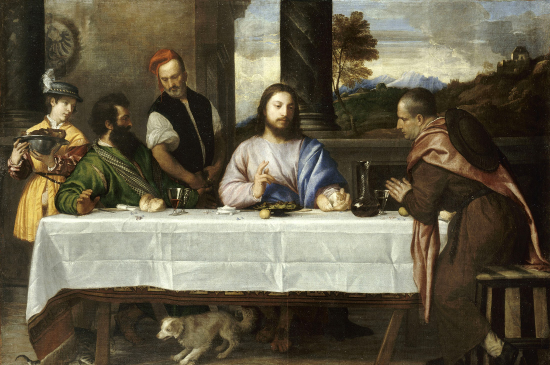 Titian. Supper at Emmaus. 1530-1535,