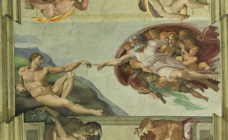 Michelangelo. Creation of Adam. 1510.