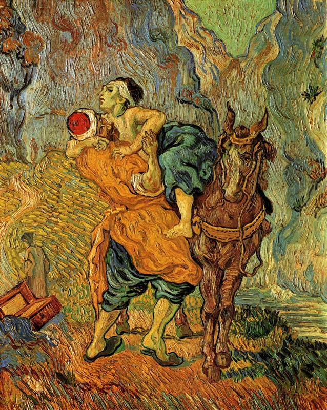 Vincent Van Gogh. The Good Samaritan, after Delacroix. 1890.