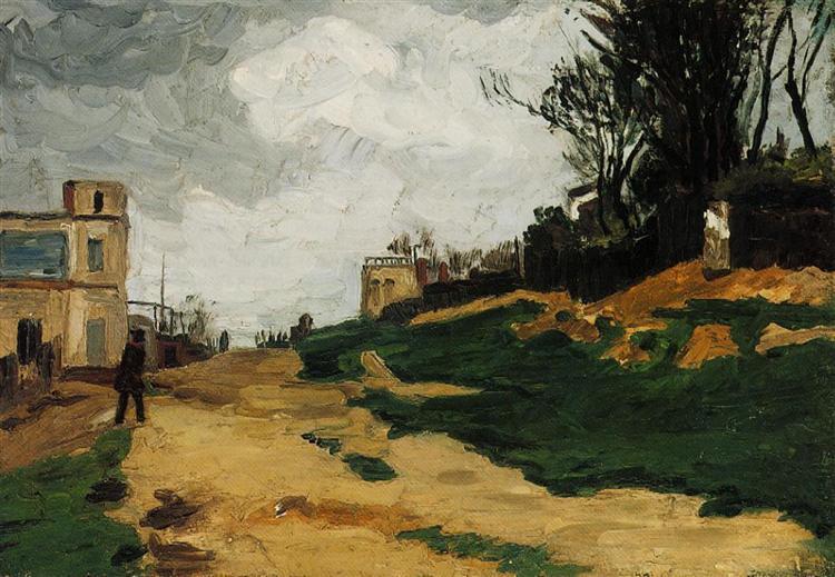 Paul Cezanne. Landscape. 1867.