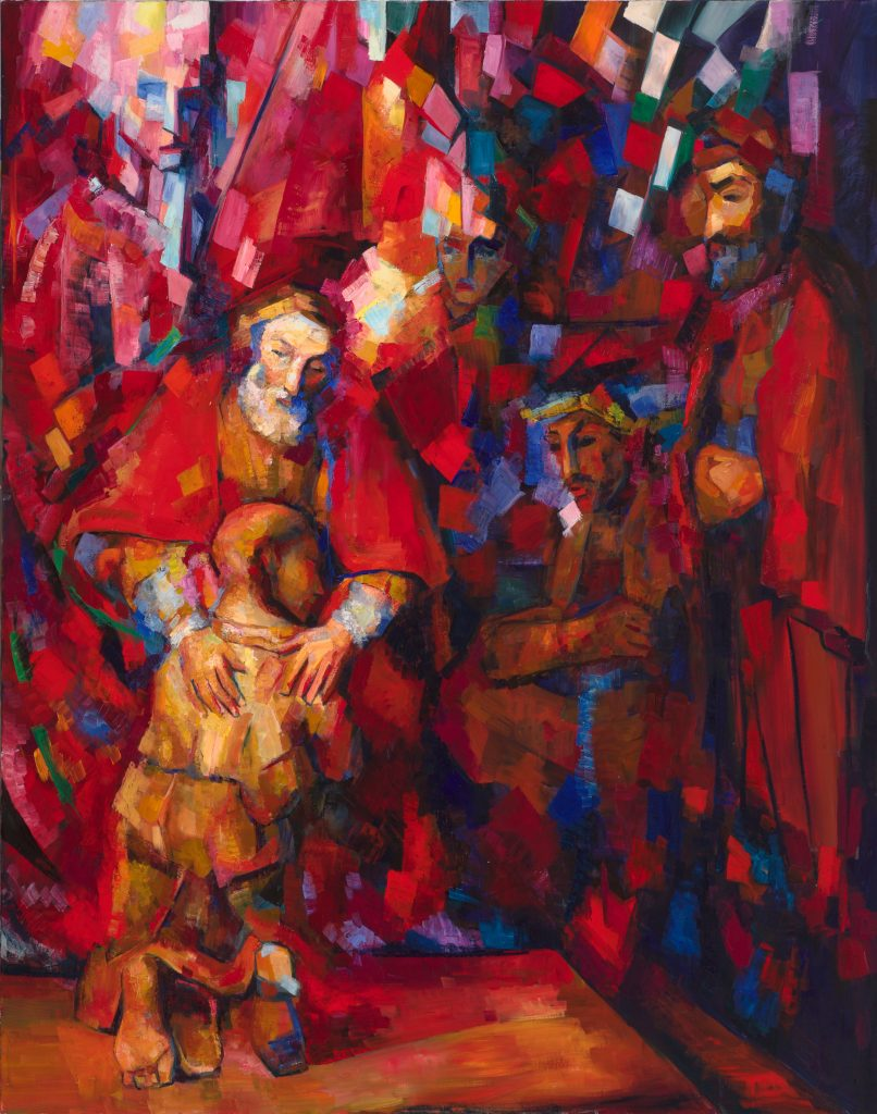 "Lena Levin. The Return of the Prodigal Son, after Rembrandt van Rijn. 60""x48"". 2016."