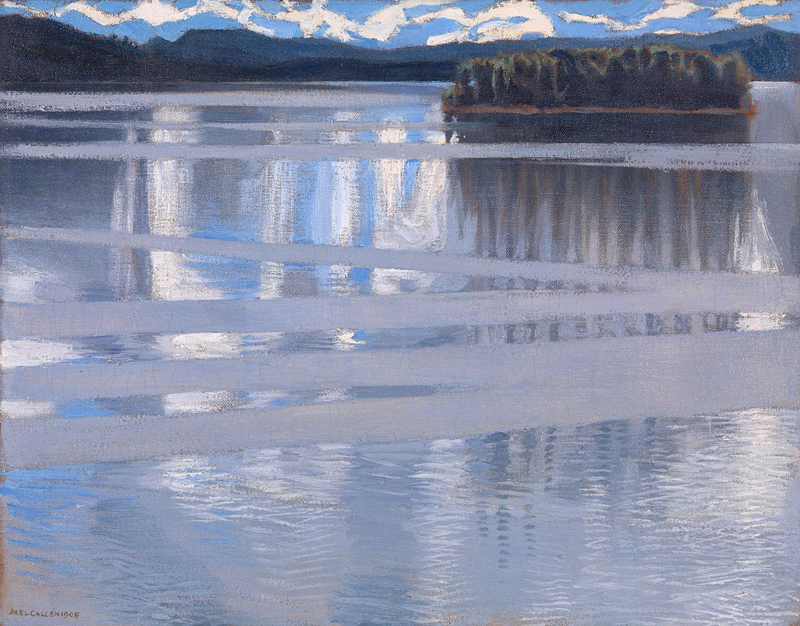 Akseli Gallen-Kallela. Lake Keitele. 1905. Oil on canvas, 53 x 66 cm.
