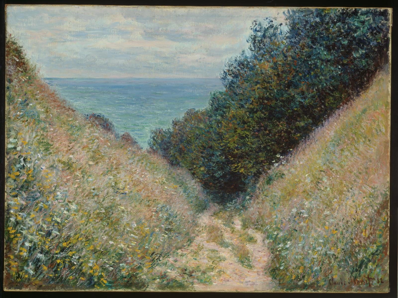Claude Monet. Road at La Cavée, Pourville. 1882.