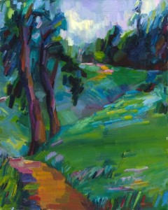 "Lena Levin. Chabot park . 20""×16"". Oil on canvas panel. 2010."