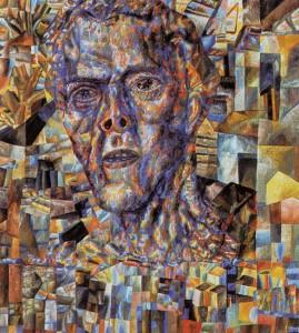 Pavel Filonov. Head. Oil on paper. 74 x 64 cm. c. 1935.