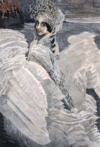 Mikail Vrubel. The Swan Princess. Oil on canvas. 142.5 x 93.5 cm. 1900.
