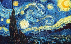 Vincent Van Gogh. The Starry Night. 73.7 x 92.1 cm. Oil on canvas. 1889.