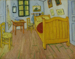 Vincent van Gogh. Vincent's Bedroom in Arles. 1988.